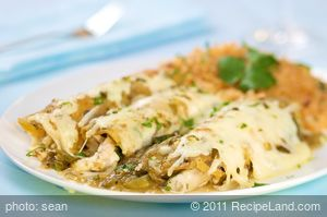 Chicken Enchiladas Verde (Green)