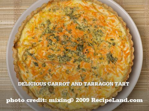 Delicious Carrot and Tarragon Tart