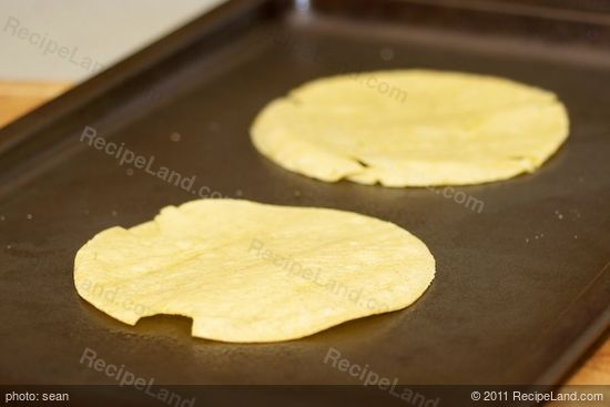 Coat tortillas with cooking spray