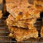 Amazing Chewy Crispy Apricot Walnut Energy Bars