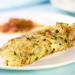 Potato Ham and Herb Omelette