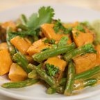 Red Thai Curry Green beans, Sweet potatoes and Tofu