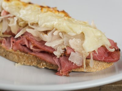 Open Faced Reuben Sandwiches