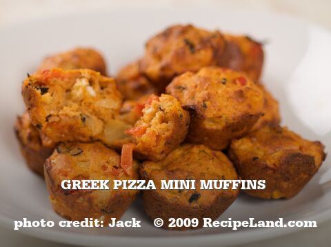 Greek Pizza Mini Muffins