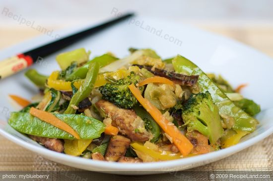 Wok-Sauteed Tofu and Vegetables recipe