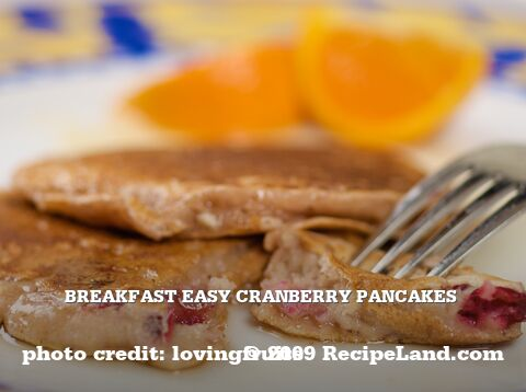 Breakfast Easy Cranberry Pancakes