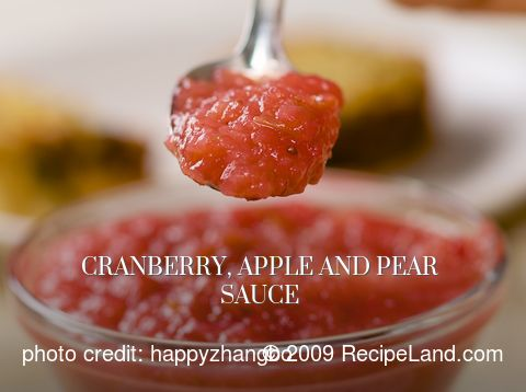 Cranberry, Apple and Pear Sauce