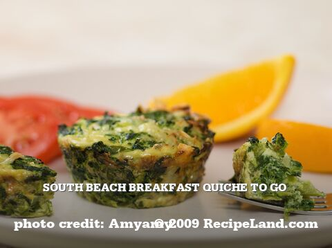 South Beach Breakfast Quiche To Go
