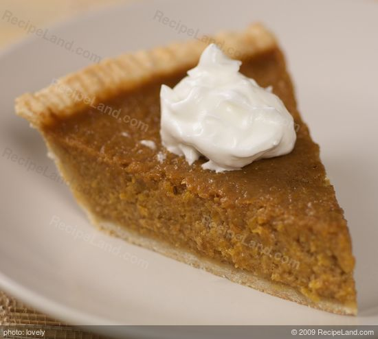 Christmas Pumpkin Pie with Rum