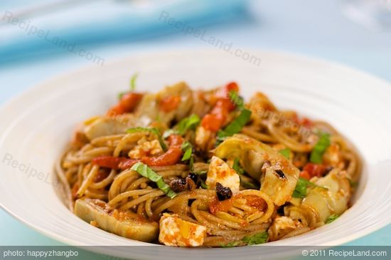 ... , Roasted Pepper, Sun-dried Tomato and Feta Pasta Salad recipe