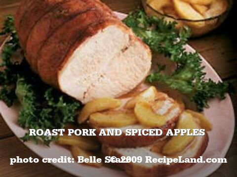 Roast Pork and Spiced Apples