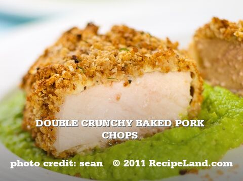 Double Crunchy Baked Pork Chops