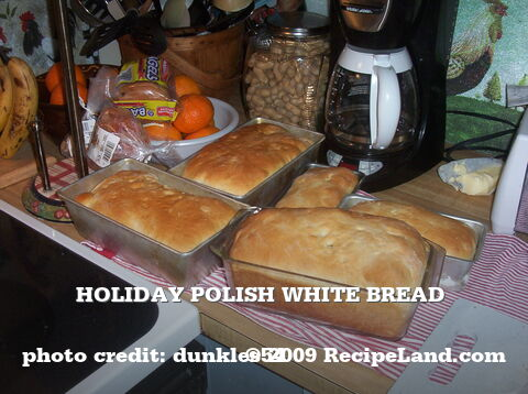 Holiday Polish White Bread