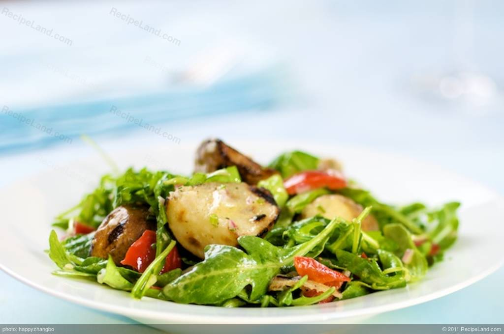Grilled Potato Salad, Arugula and Roasted Peppers with ...