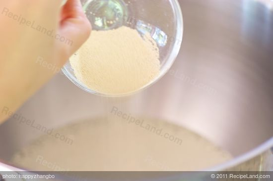 Add 1 1/2 tablespoons of yeast.
