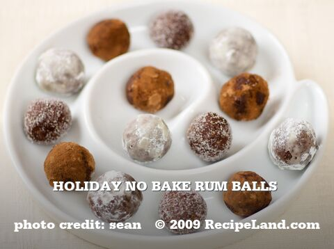 Holiday No Bake Rum Balls