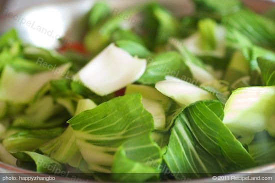 Stir in the bok choy...