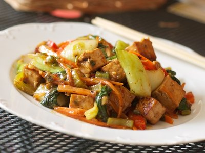 Crusty Tofu with Vegetables