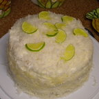 Coconut Cream Cake with Lemon and Lime Filling