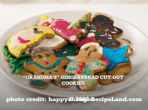 """Grandma's"" Gingerbread Cut-Out Cookies"