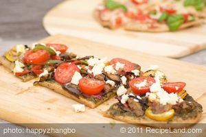 Grilled Summer Vegetable Pizza with Basil Pesto and Feta