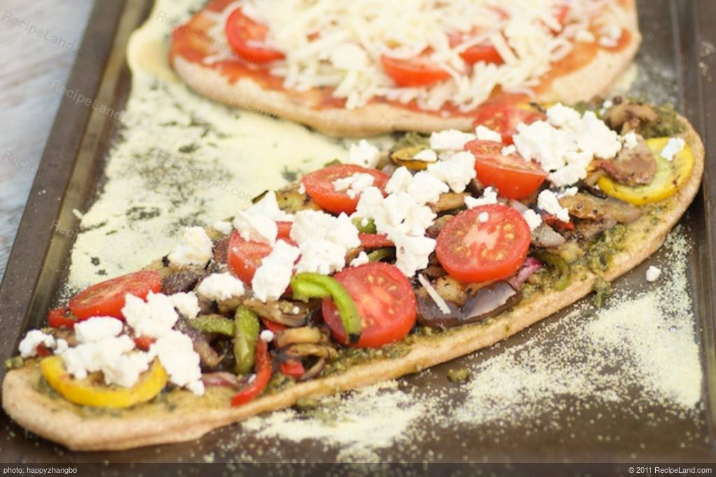 Grilled Summer Vegetable Pizza with Basil Pesto and Feta ...