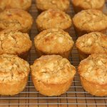 Apple Oat Moist Muffins-Low fat, Low calorie