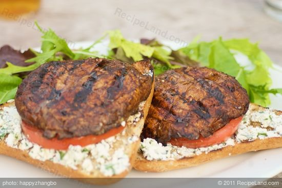 ... Grilled Portobello Sandwiches with Parsley-Basil Goat Cheese recipe