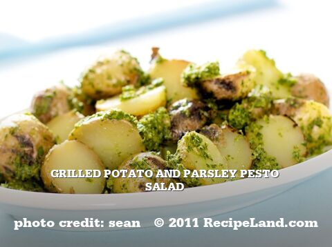 Grilled Potato and Parsley Pesto Salad
