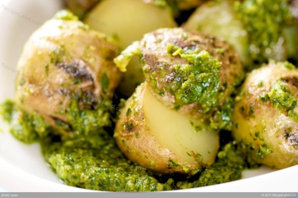Grilled Potato and Parsley Pesto Salad Recipe