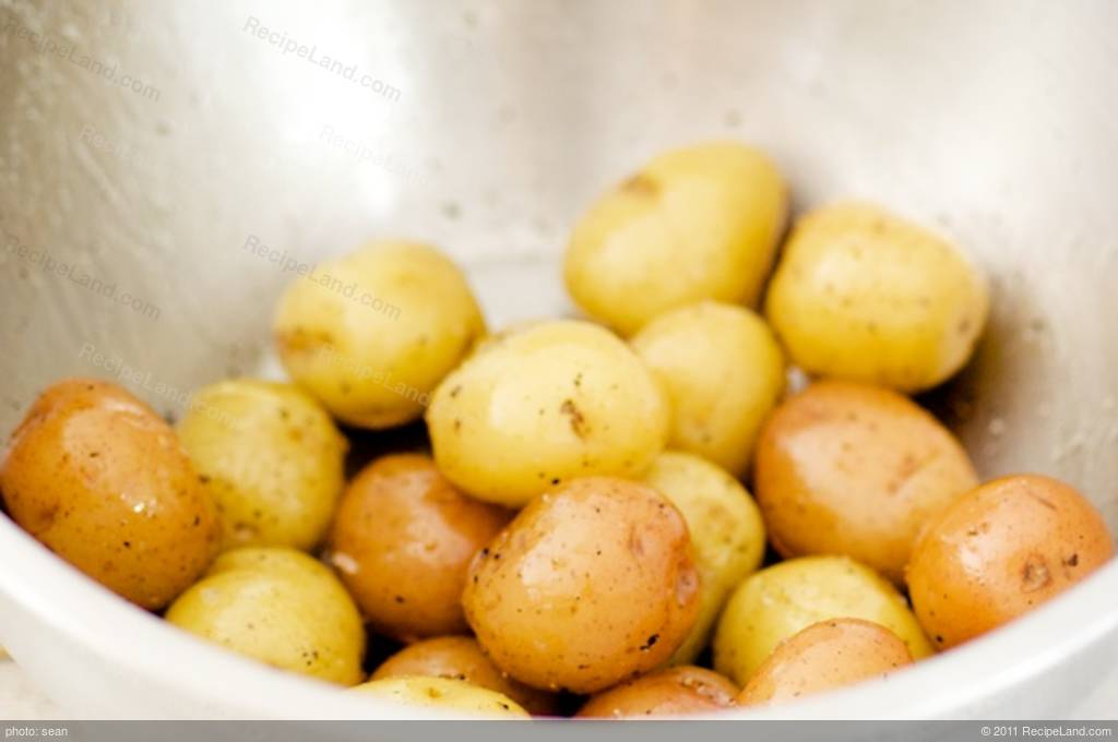 Grilled potatoes tossed with freshly-made parsley pesto, an easy ...
