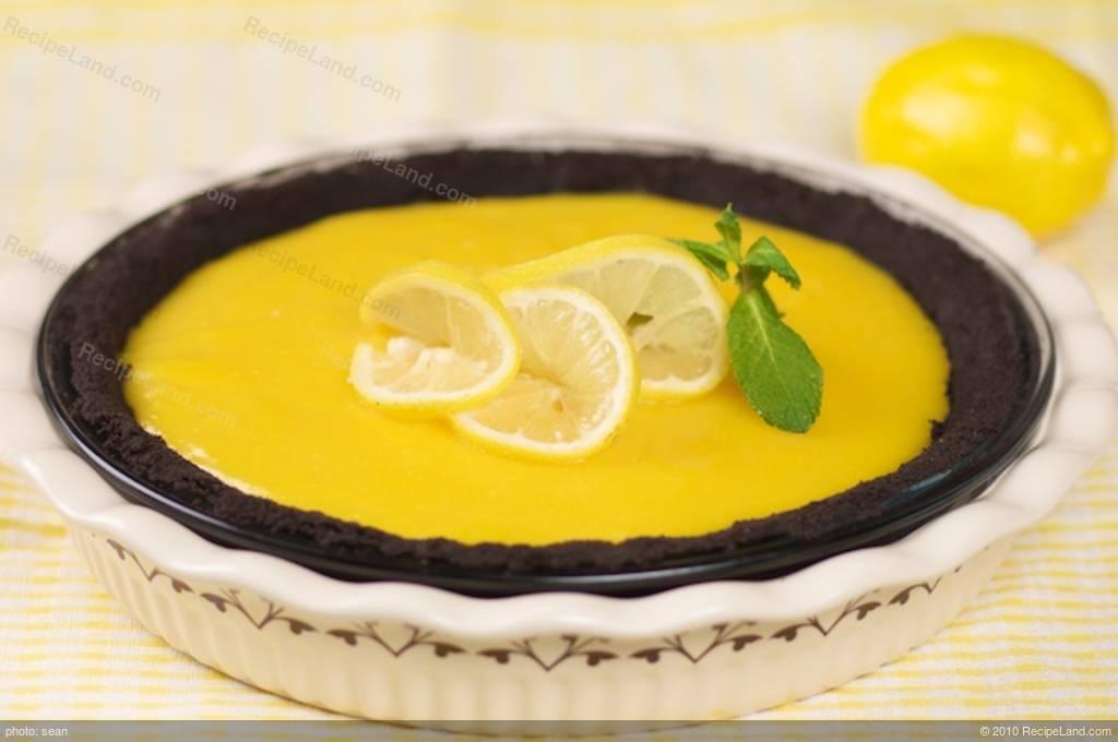 Chocolate Lemon Pie Recipe | RecipeLand.com