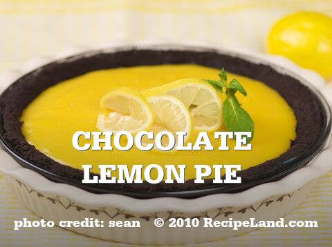 Chocolate Lemon Pie