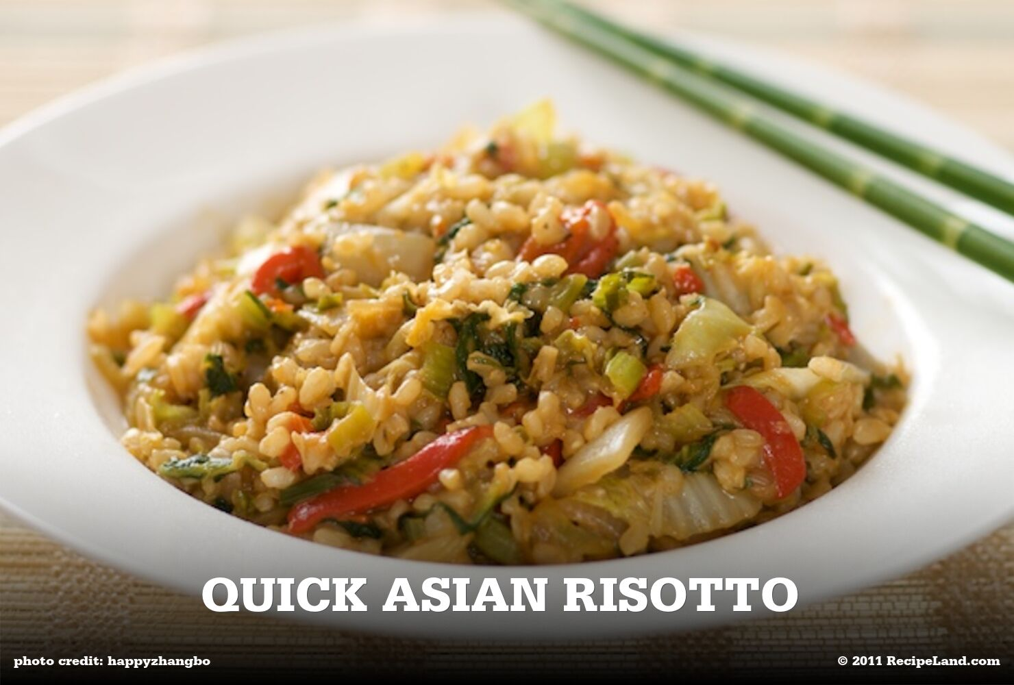 Quick Asian Risotto