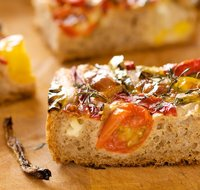 Roasted Pepper, Chili, Cherry Tomato and Mozzarella Focaccia