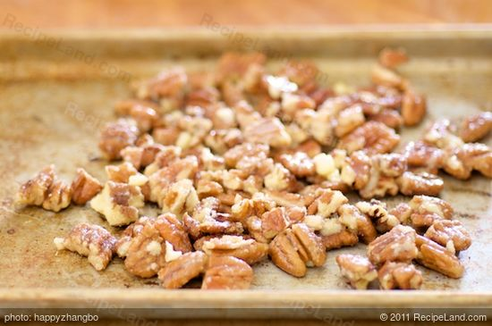Place the pecans on a baking sheet