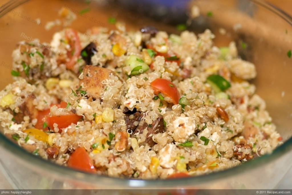Quinoa, Toasted Corn and Cherry Tomato Salad with Toasted ...