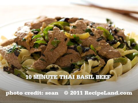 10 Minute Thai Basil Beef