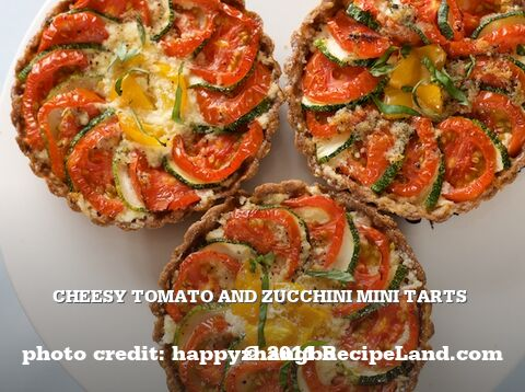 Cheesy Tomato and Zucchini Mini Tarts