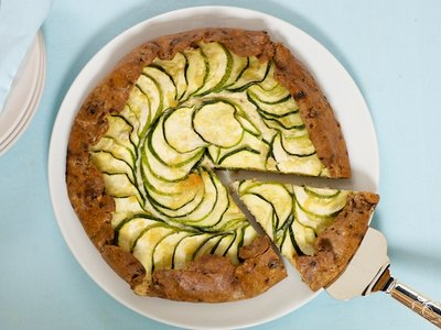 Triple Cheese and Zucchini Galette