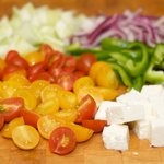 Greek Salad with Peppers