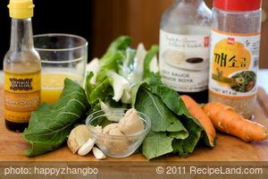 Bok Choy, Carrot and Mushroom Stir-Fry with Sesame Orange Sauce