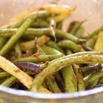 Parmesan, Paprika, and Herbs Roasted Green Beans