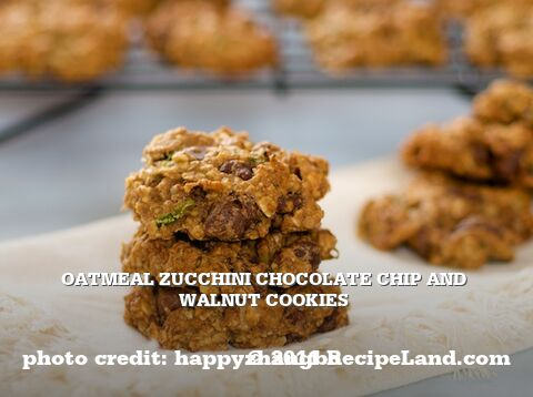 Oatmeal Zucchini Chocolate Chip and Walnut Cookies