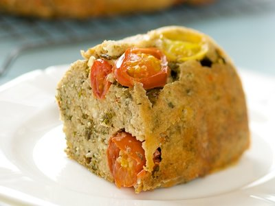 Cherry Tomato, Feta-Swiss Cheese and Herbs Bread
