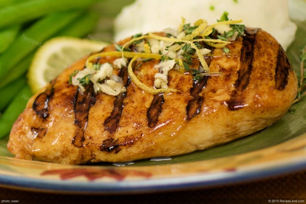 Grilled lemon chicken breast recipe