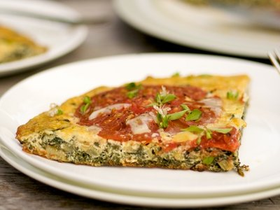 Swiss Chard and Heirloom Tomato Frittata
