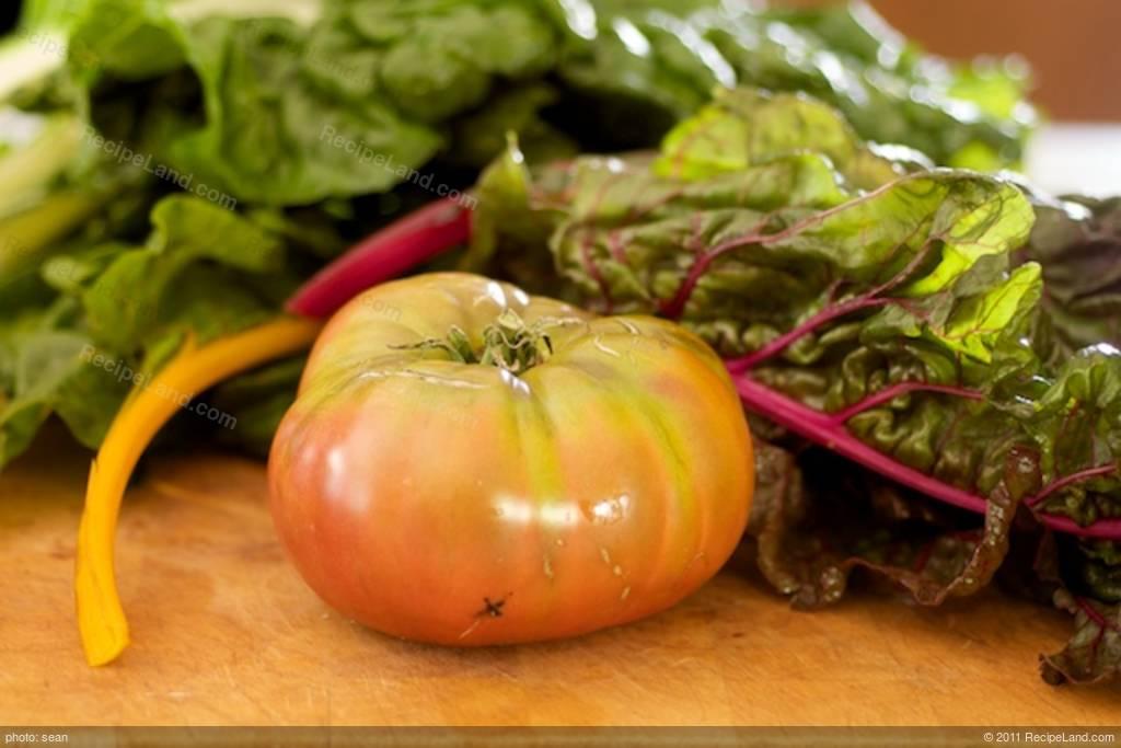 Swiss Chard and Heirloom Tomato Frittata Recipe
