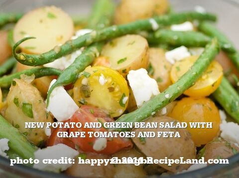 New Potato and Green Bean Salad with Grape Tomatoes and Feta