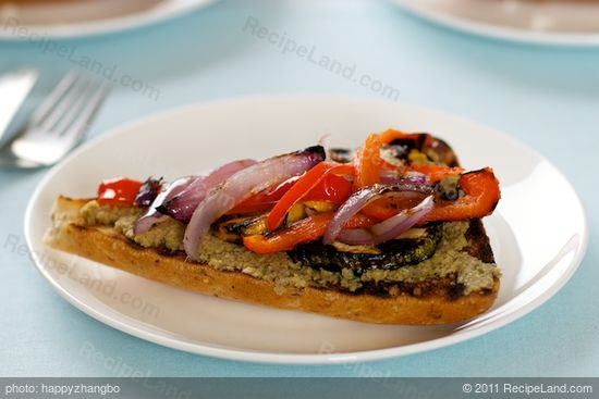 Grilled Vegetable Sandwich with Tapenade